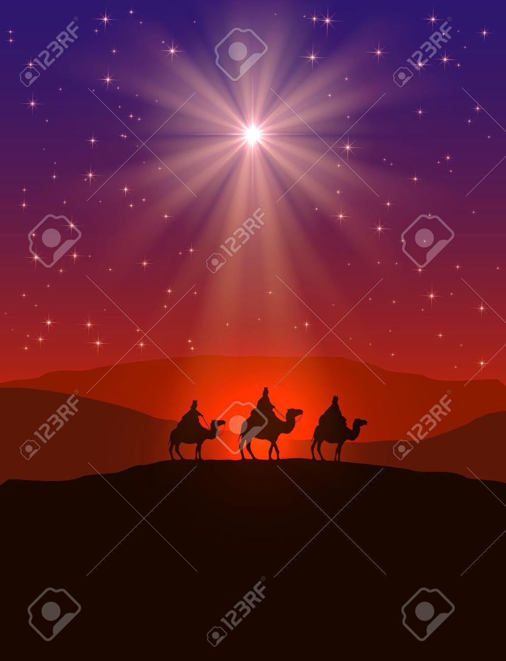 Christmas Background Christian.Christian Christmas Background With Shining Star On Night Sky