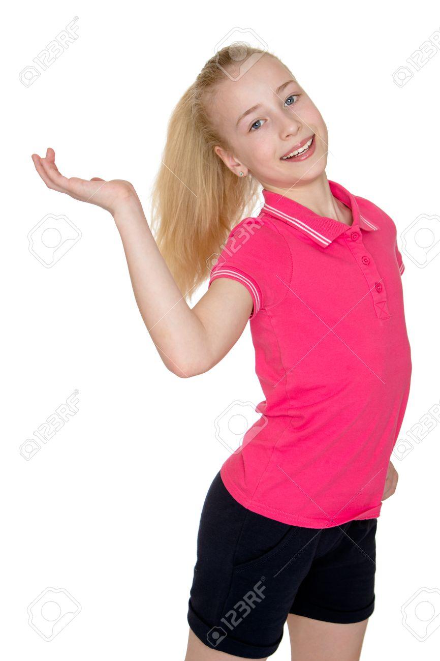 Teenager-Mädchen mit großem Schwanz