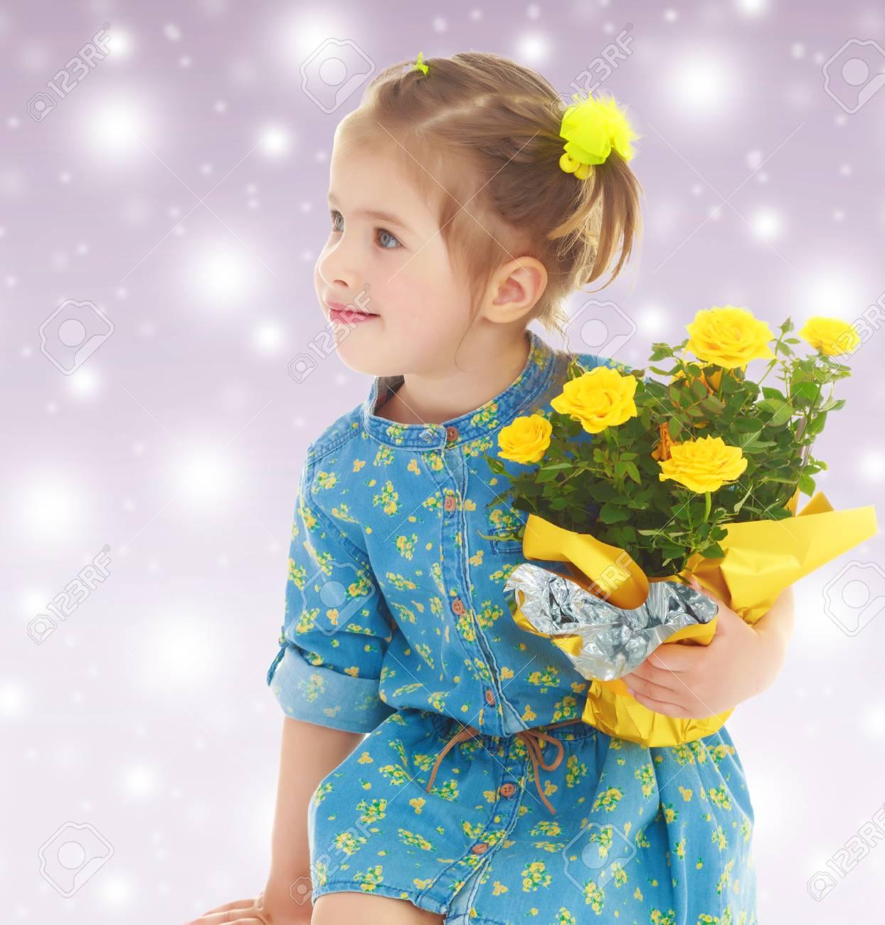 Pensive Little Girl In A Short Summer Robe 7c301663a