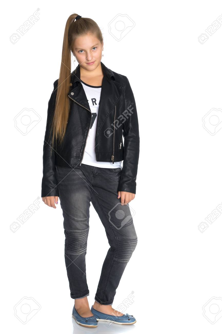 Leather jacket teen