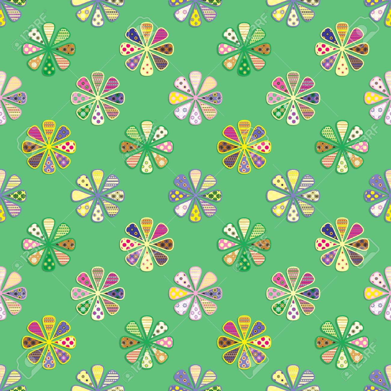 seamless pattern of bright flowers Stock Vector - 12206574