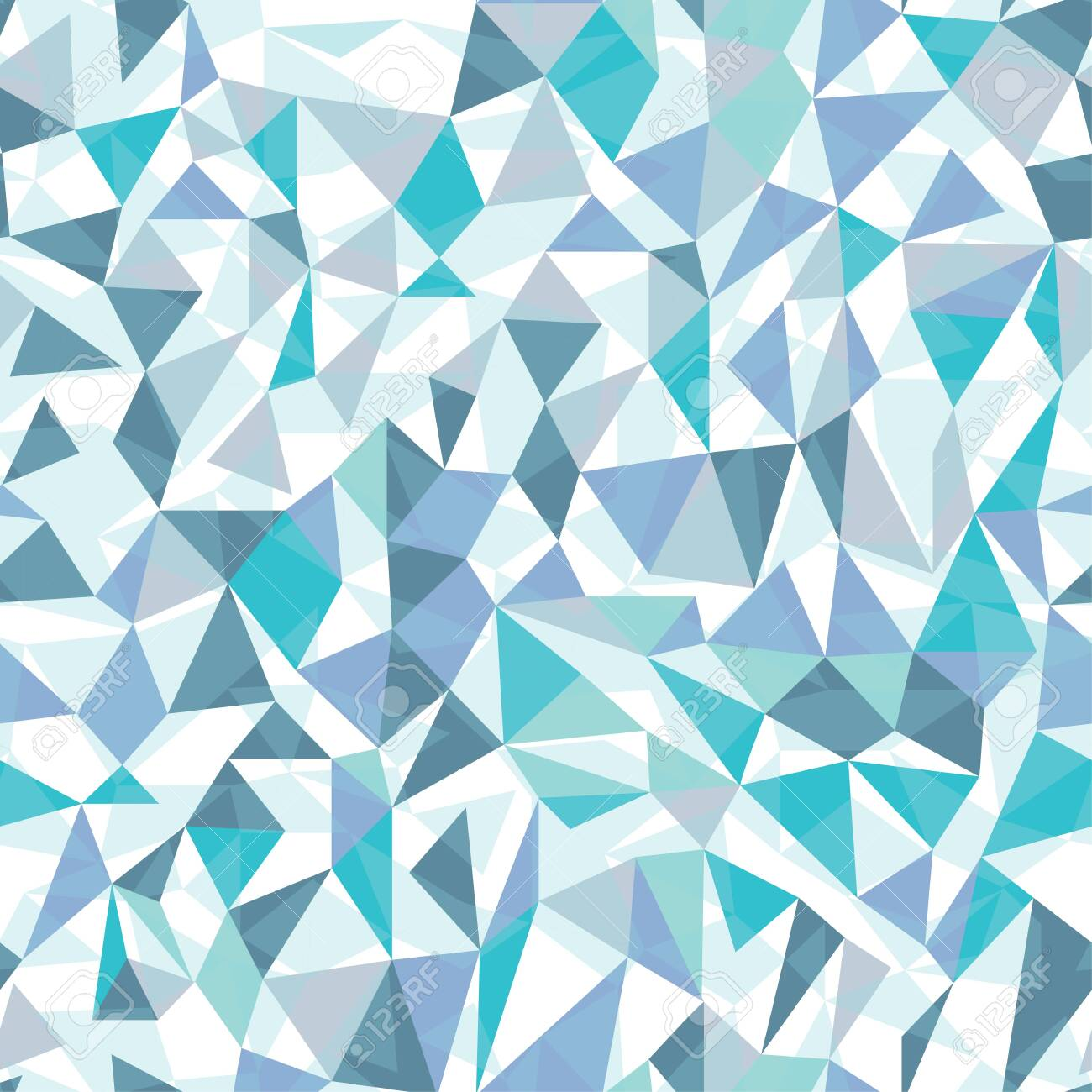 Geometric triangles in icy blue tones. Great for textiles, stationary, wrapping paper, products or backgrounds. - 144802228