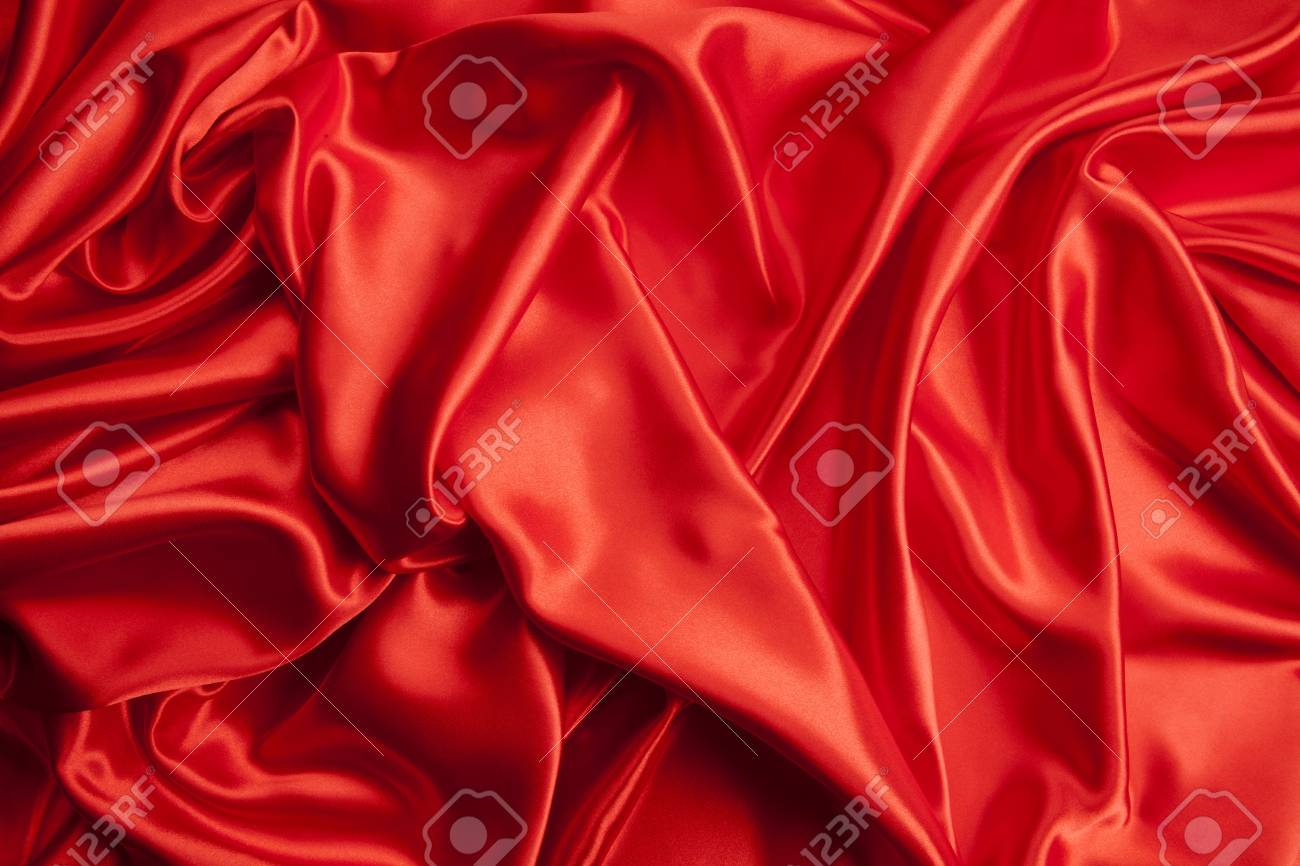 Close Up View Of A Red Piece Of Satin Fabric Minimal Color Still Stock Photo Picture And Royalty Free Image Image 94389839