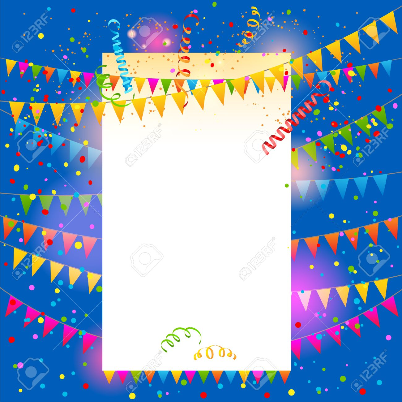 holiday party background flags vector festive illustration holiday party background flags vector festive illustration place for text stock vector