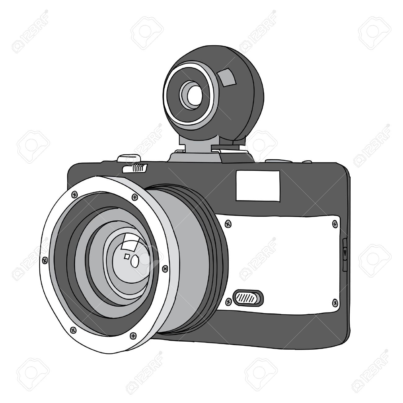 Hand Drawn of Vector Camera Stock Vector - 22020572