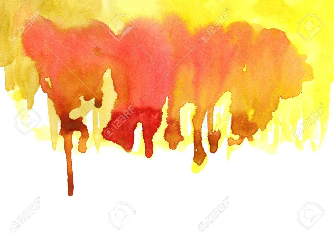 Yellow Watercolor Effects For Your Design Stock Photo Picture And