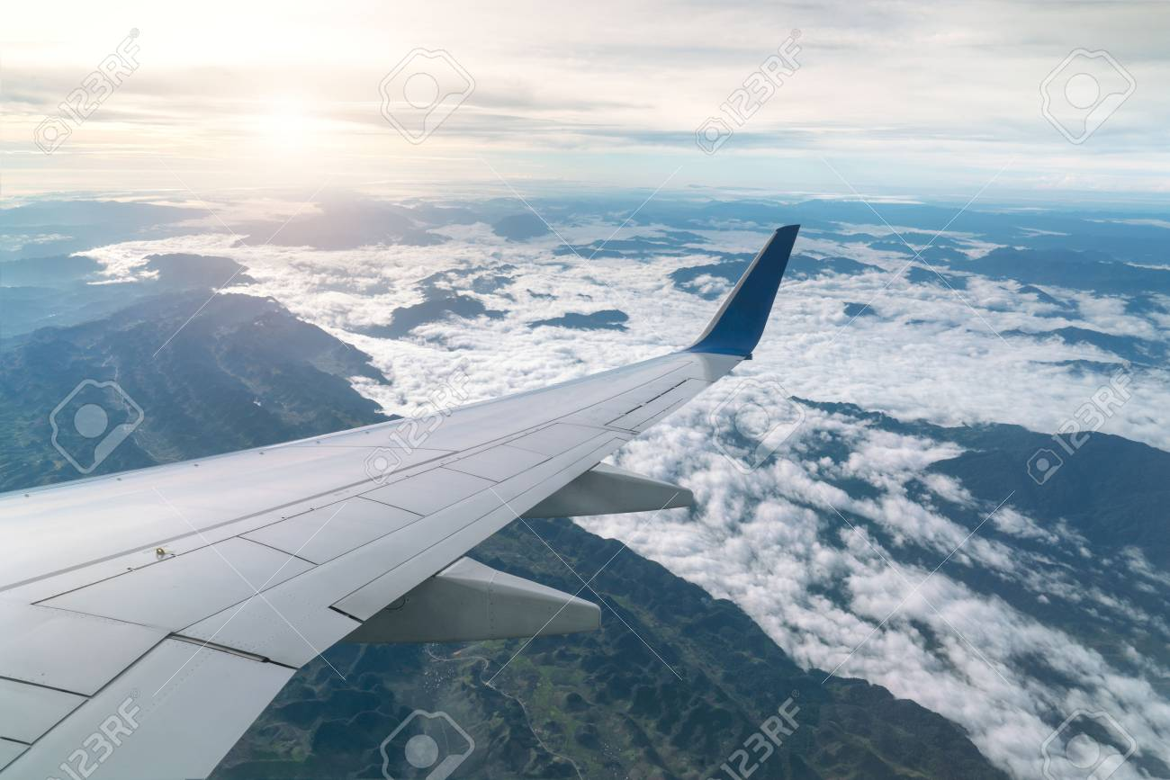 Surprising Aircraft Wing View From Airplane Window Seat Going To The Mountains Machost Co Dining Chair Design Ideas Machostcouk