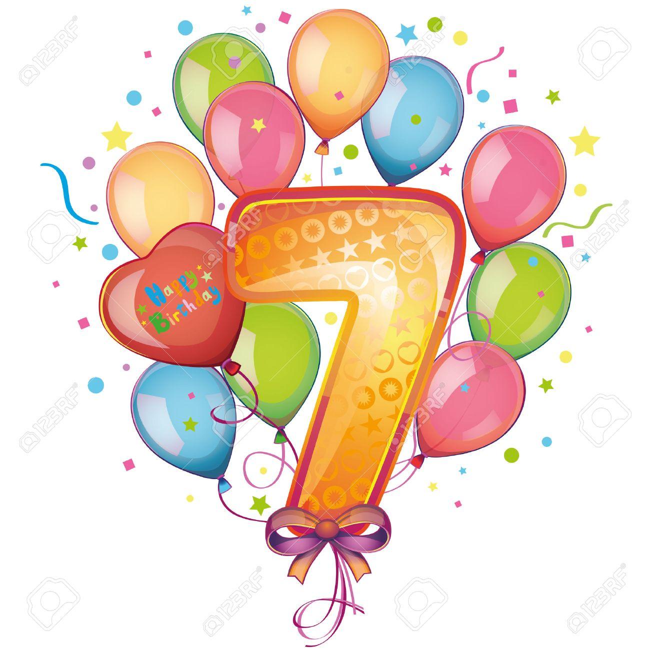 Especial 7º Aniversario L@S 22406827-7-globos-feliz-cumplea-os-Foto-de-archivo