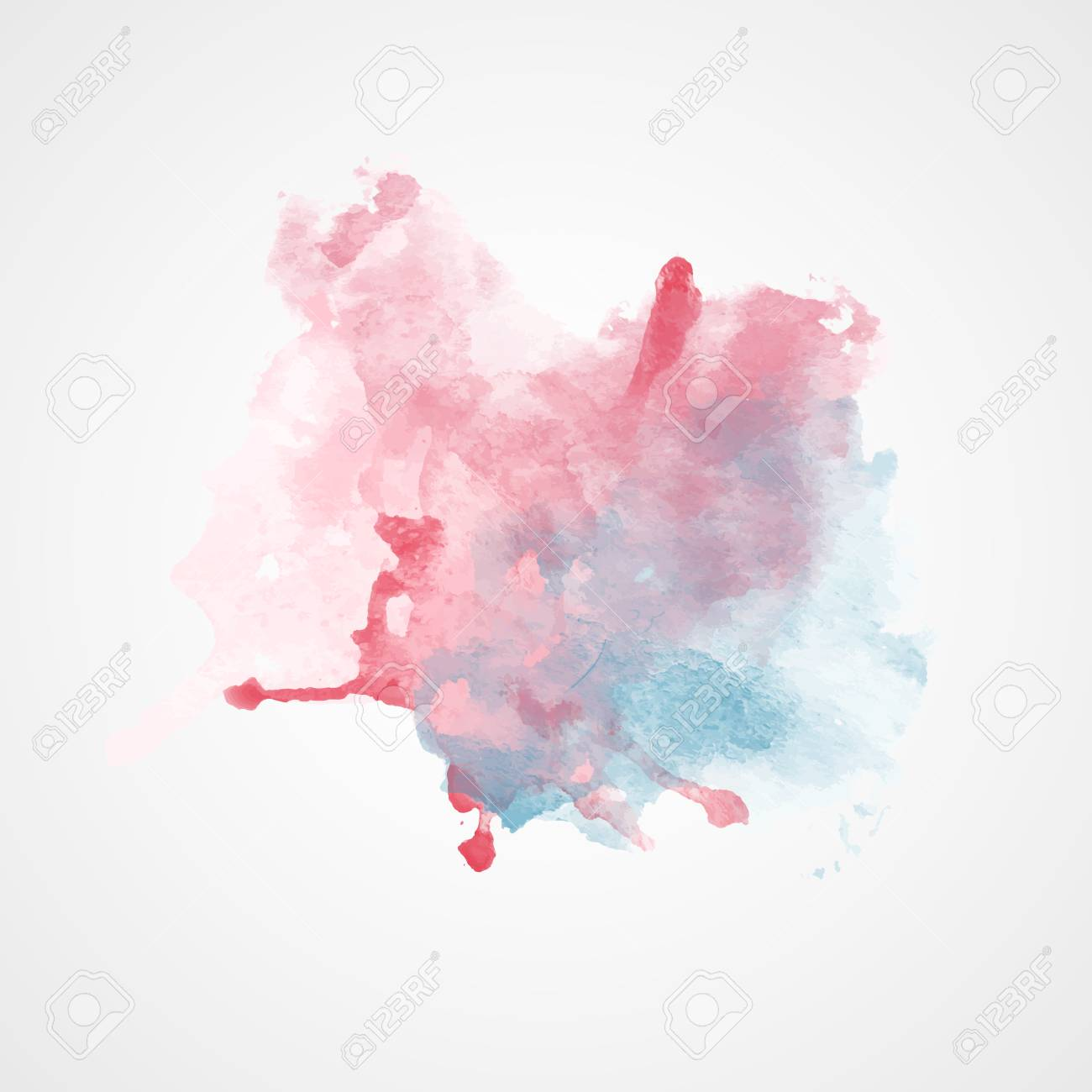 vector watercolor splash with gradient effect bright colorful grunge blob fashion beauty posters and banners graphic design red and blue colors