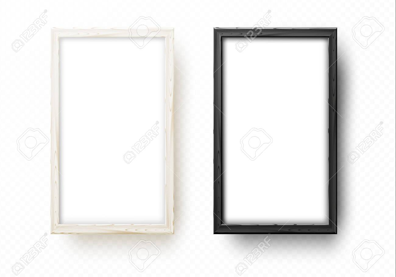 Two wooden frames for mock up. Artistic wood frame for - 122480041