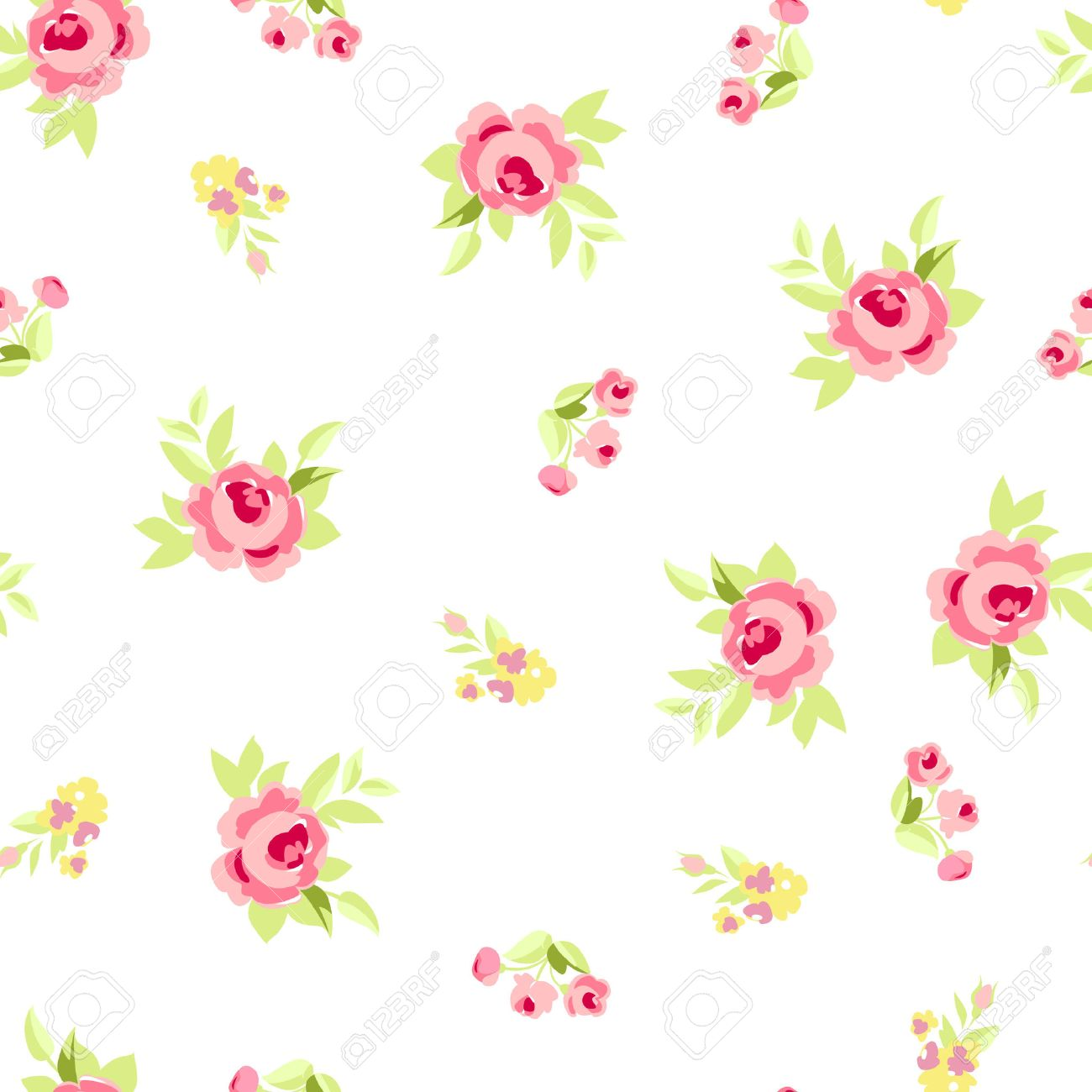 Seamless floral pattern with little flowers pink roses vector seamless floral pattern with little flowers pink roses vector floral illustration in vintage style mightylinksfo