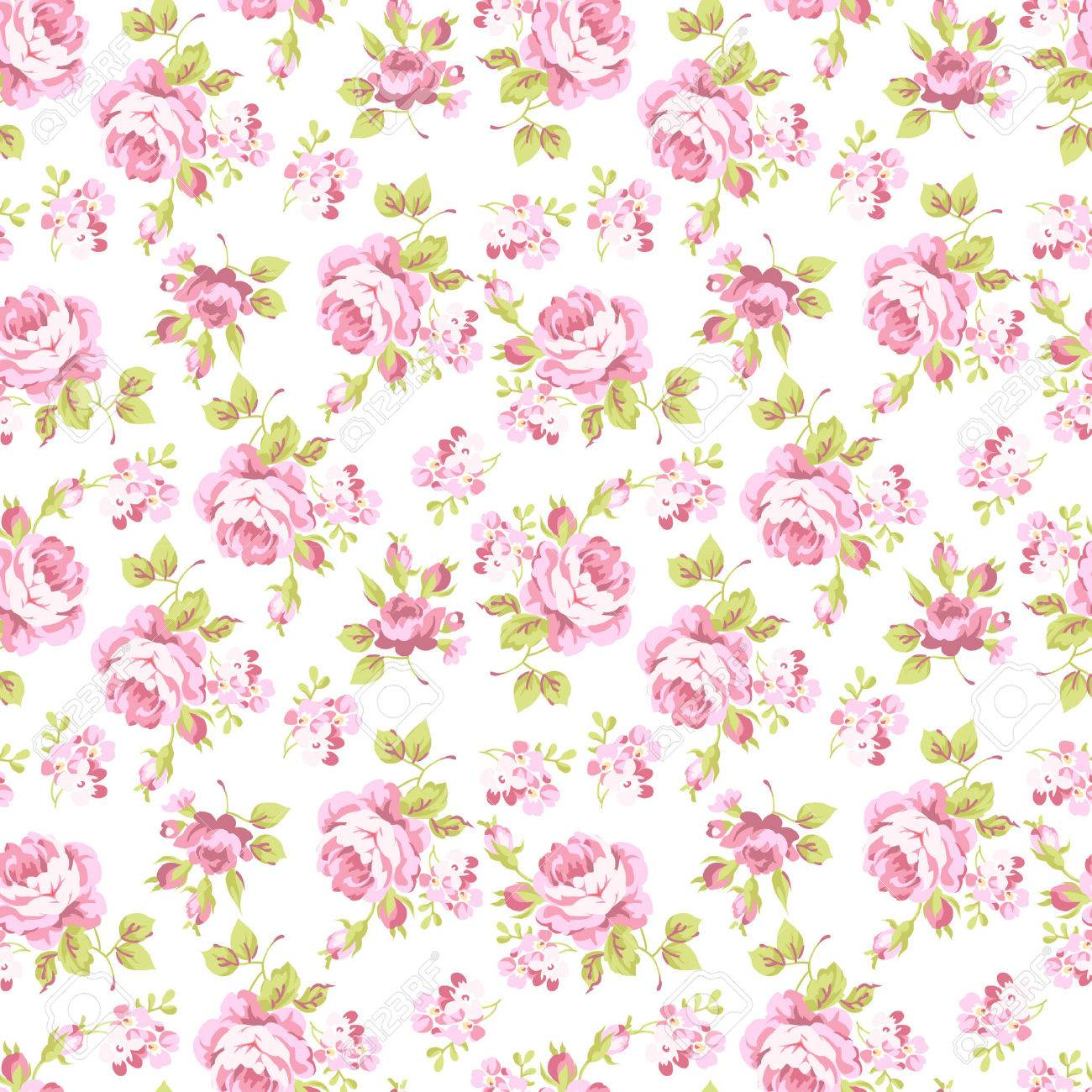seamless floral pattern with bouquets of pink roses royalty free