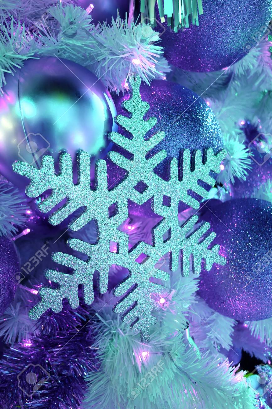 Light Up Glitter Snowflake And Glitter Ball Shaped Christmas Stock Photo Picture And Royalty Free Image Image 91336174