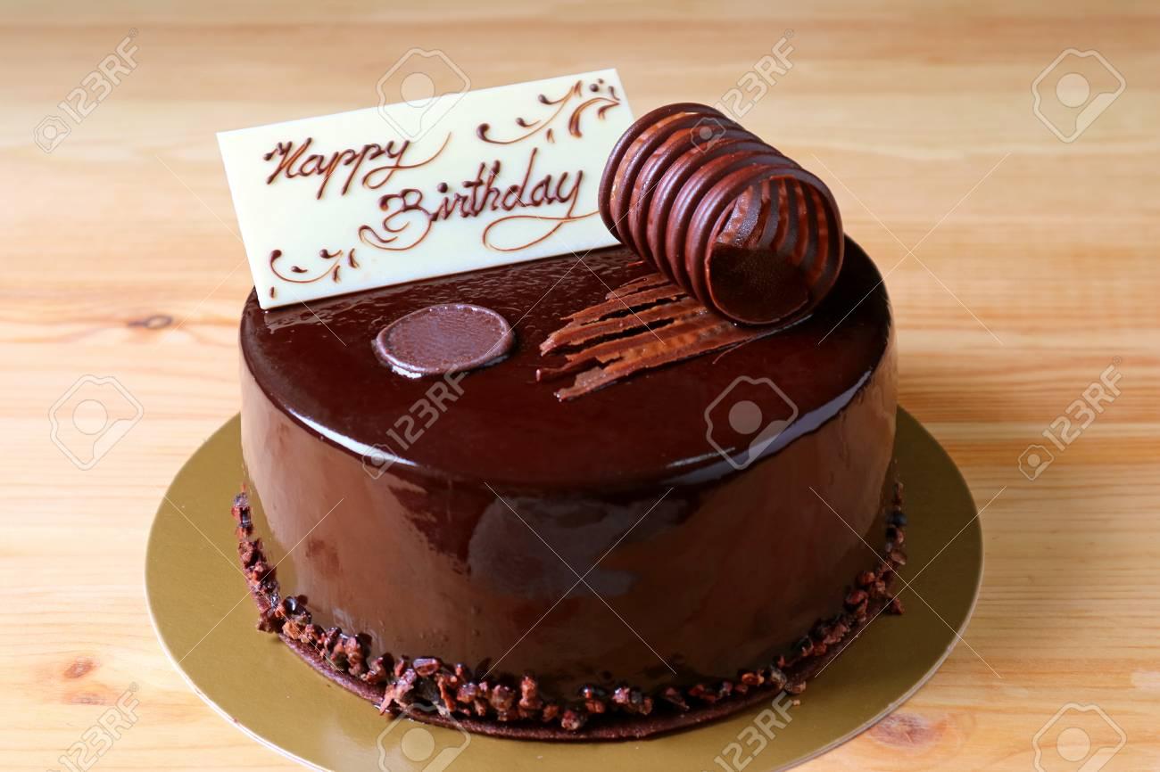 Phenomenal Chocolate Mousse Birthday Cake Topped With White Chocolate Birthday Cards Printable Giouspongecafe Filternl