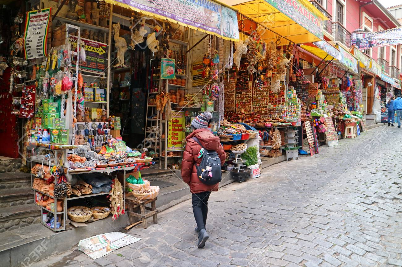 Female Tourist Exploring The Famous Witches Market Or Mercado Stock Photo Picture And Royalty Free Image Image 113344940