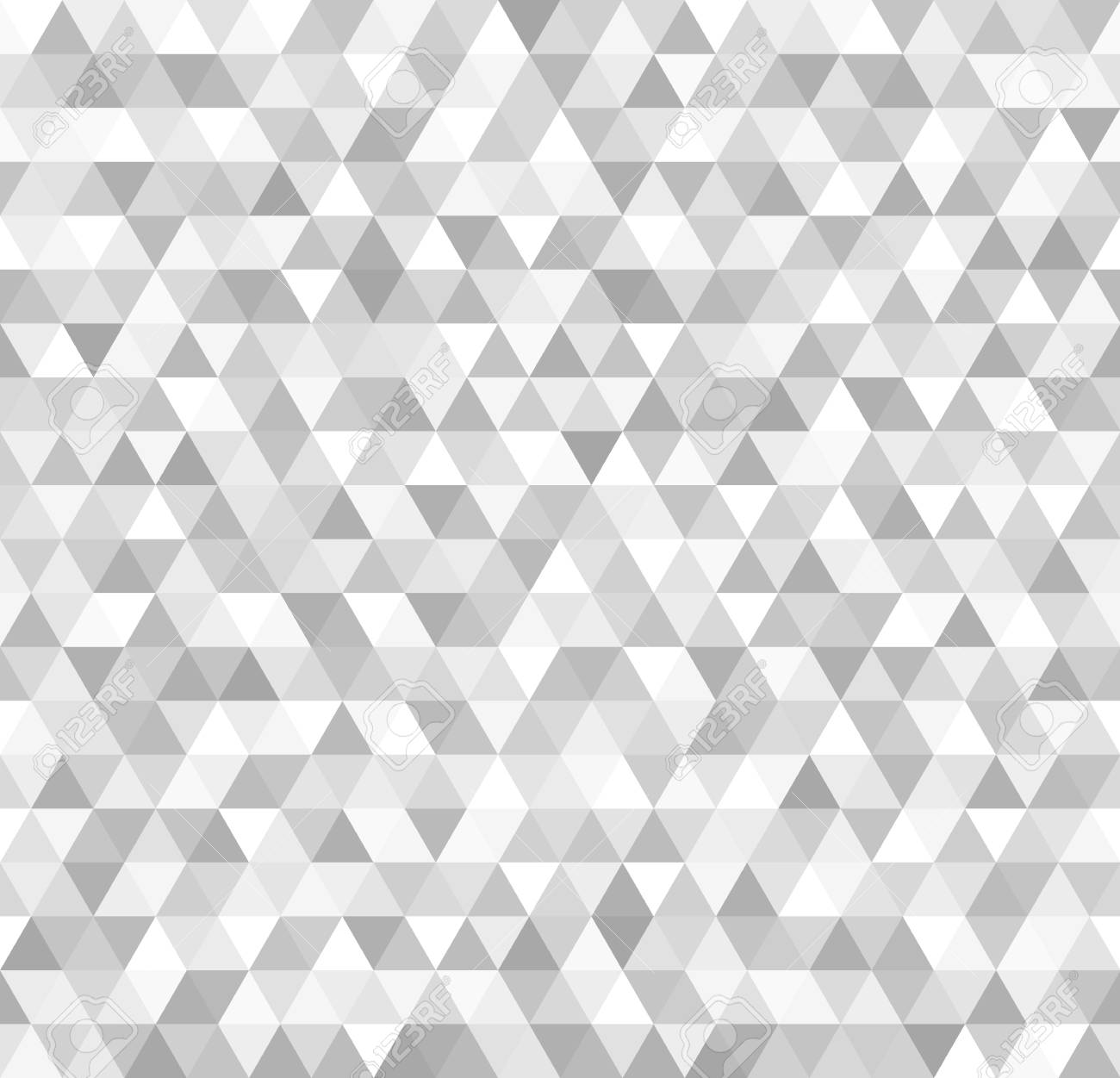 silver triangle pattern seamless vector metallic background