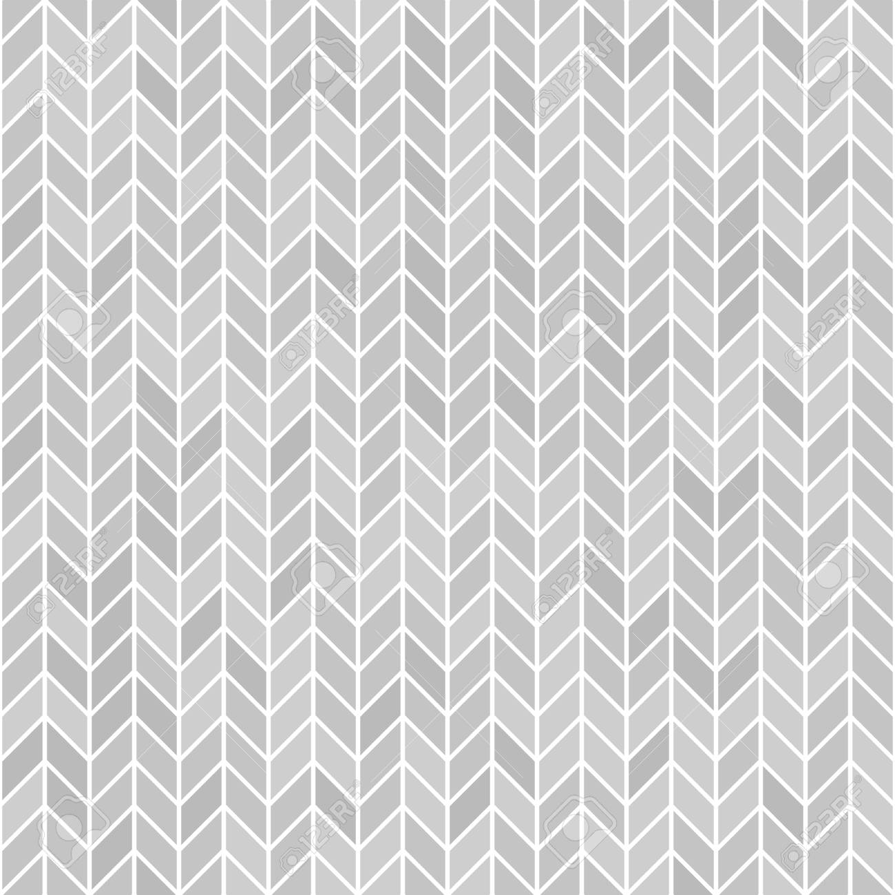 Gray herringone pattern. Seamless vector parquet background - grey polygons on white backdrop - 127237248
