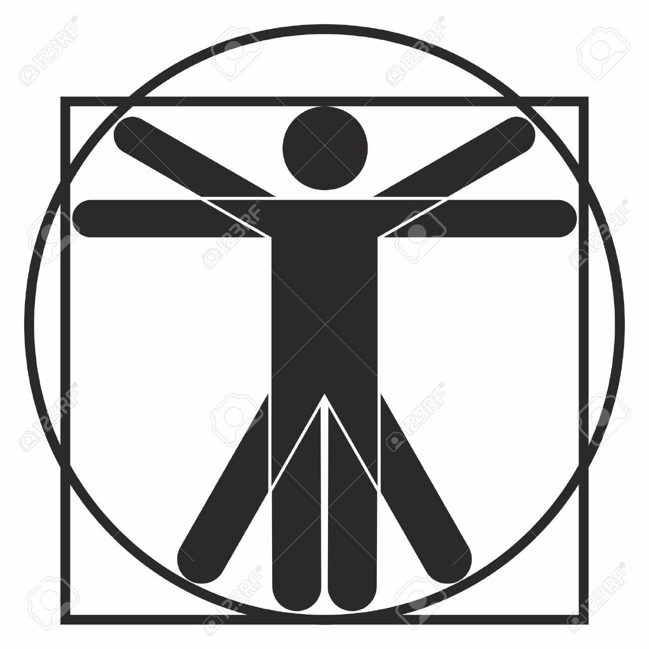 Vitruvian Man Icon Royalty Free Cliparts, Vectors, And Stock ...