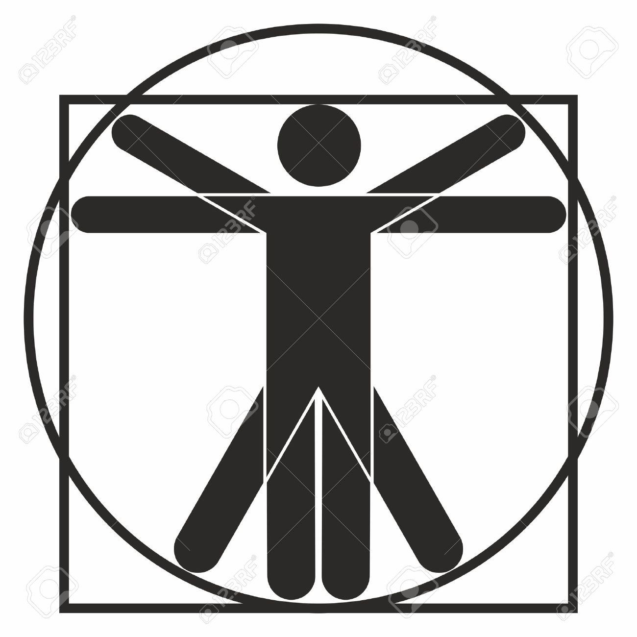 vitruvian man icon royalty free cliparts vectors and stock rh 123rf com vitruvian man vector download vitruvian man vector art