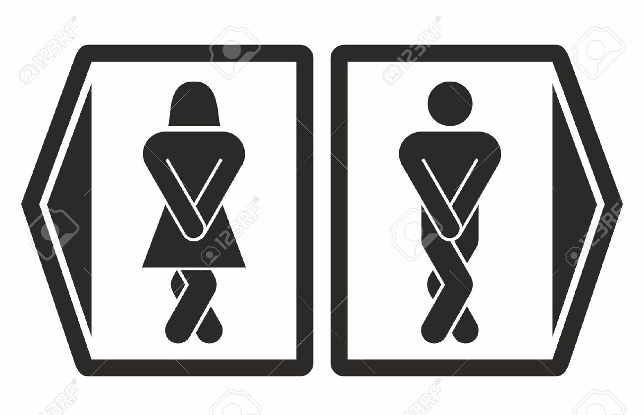 Bathroom Signs Vector man and women toilet icons royalty free cliparts, vectors, and