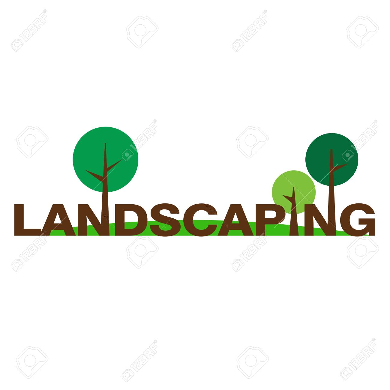 Logo For Landscaping And Gardening Company Stock Vector   96867130