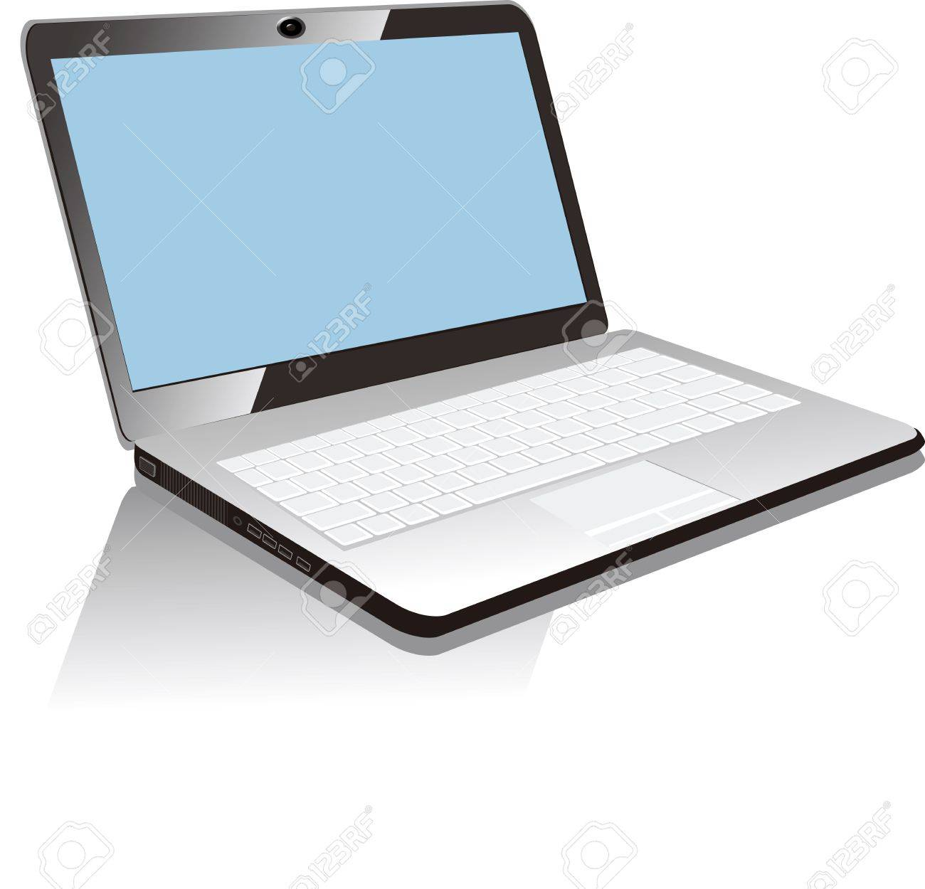 白背景に分離されたノート パソコンのイラスト ロイヤリティフリー