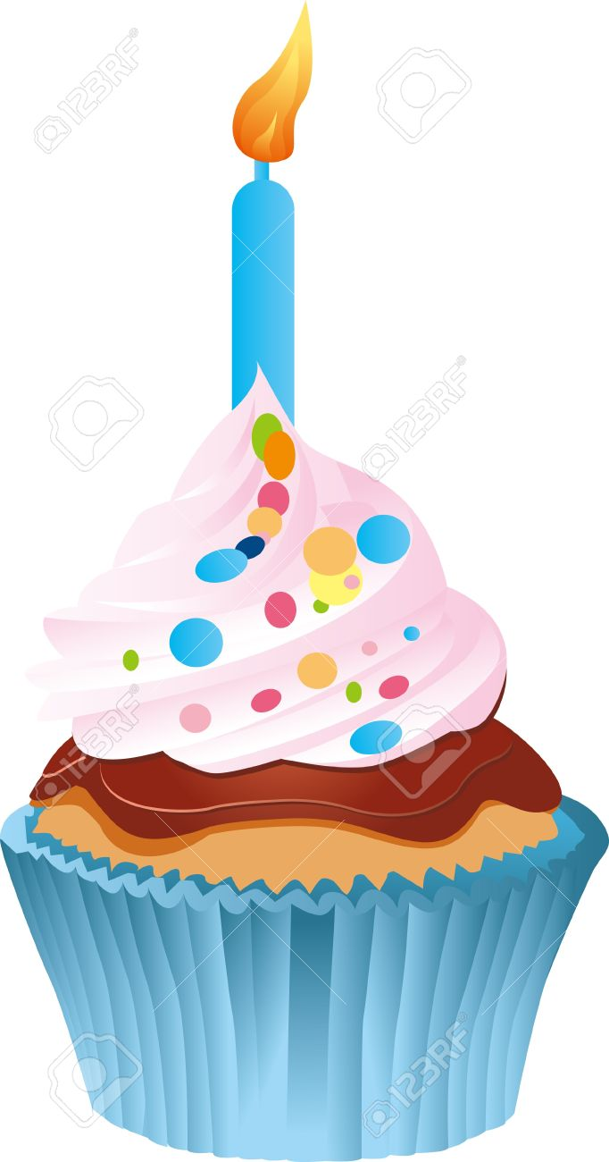 First Birthday Cake Isolated On White Royalty Free Cliparts Vectors