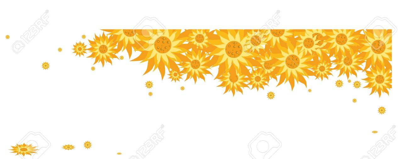 Illustration of a bunch of yellow daisy flowers Stock Vector - 16183974