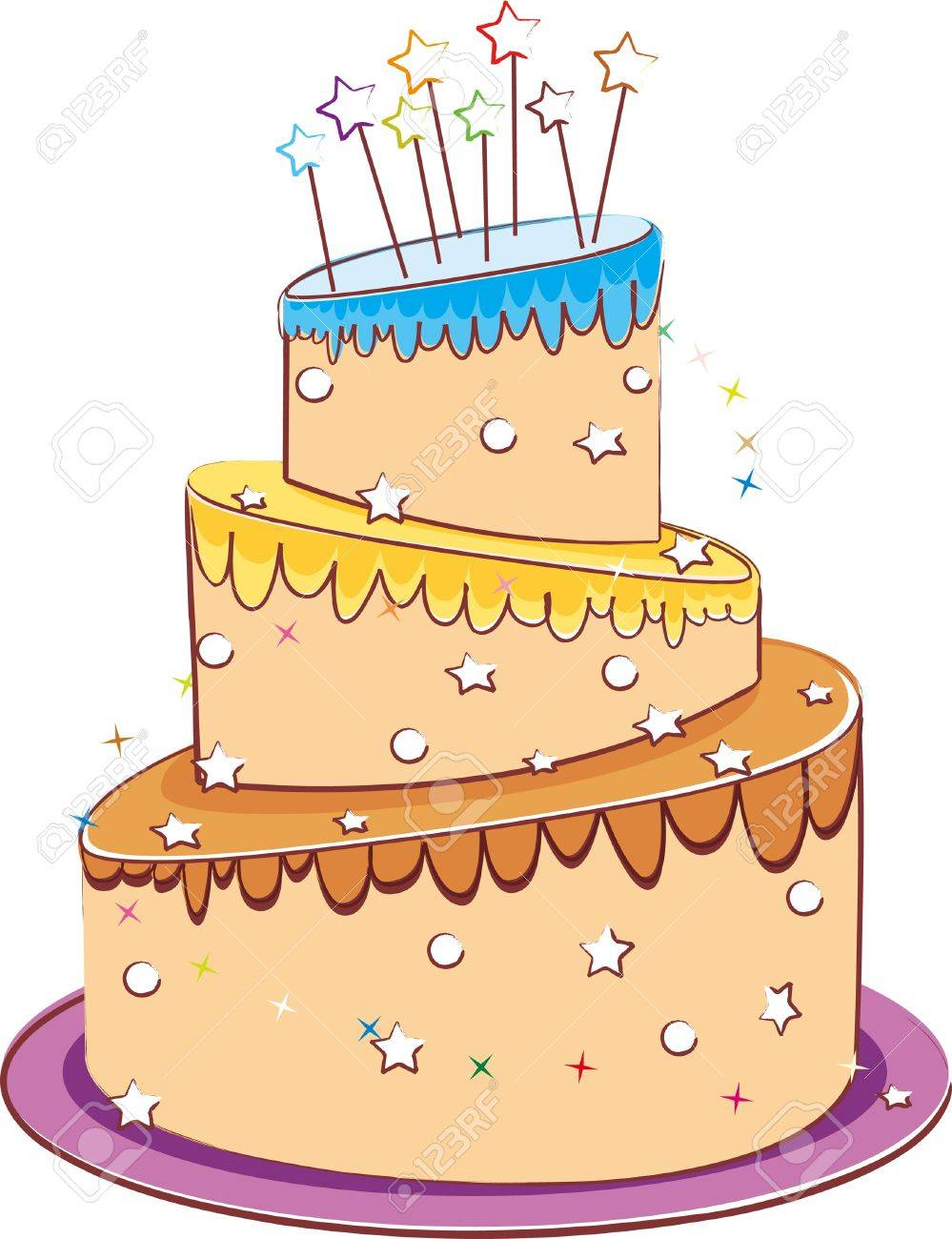 Wedding Cake Isolated On White Royalty Free Cliparts, Vectors, And ...