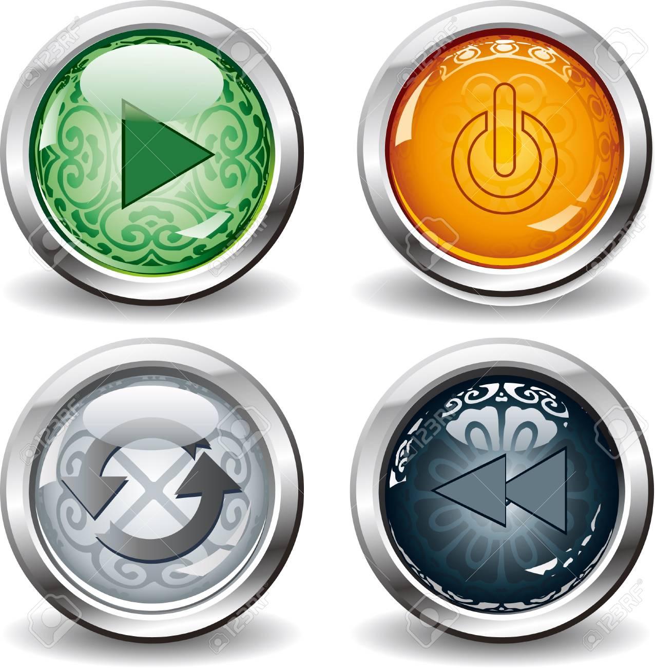 beautiful button Stock Vector - 17090513