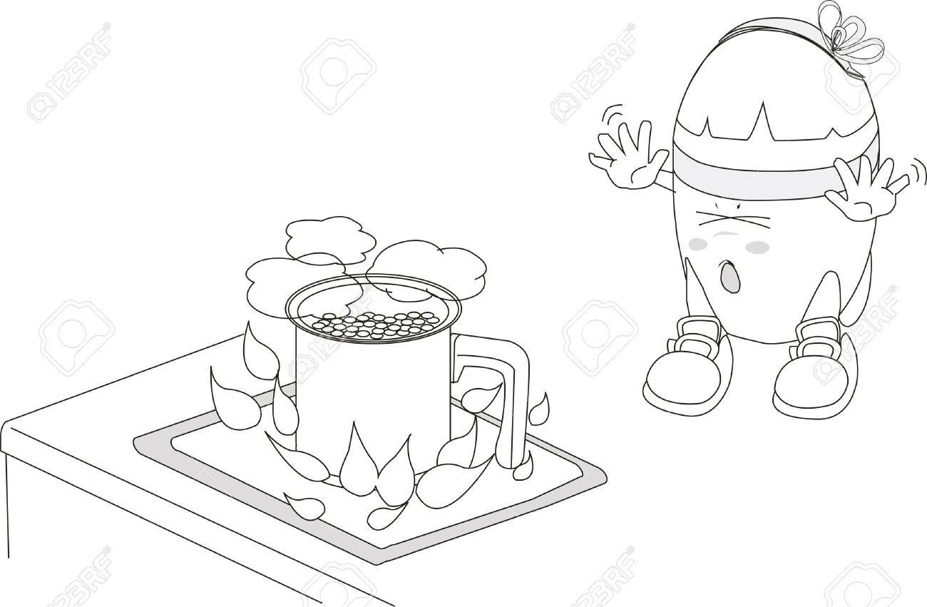 Risk of electric shock cartoon image Stock Vector - 17626050