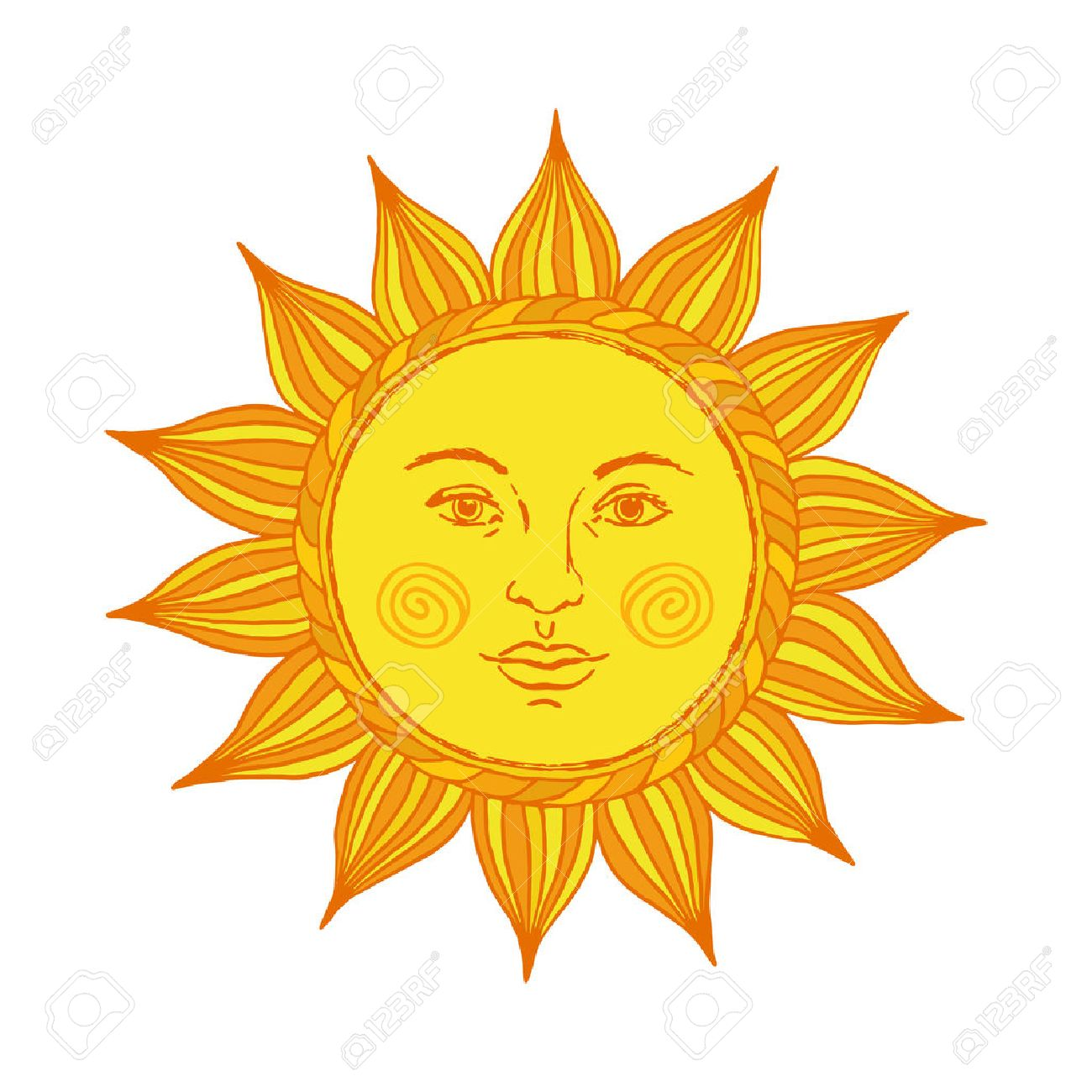 hand drawn sun with face and eyes alchemy medieval occult rh 123rf com sun vector art sun vector optics