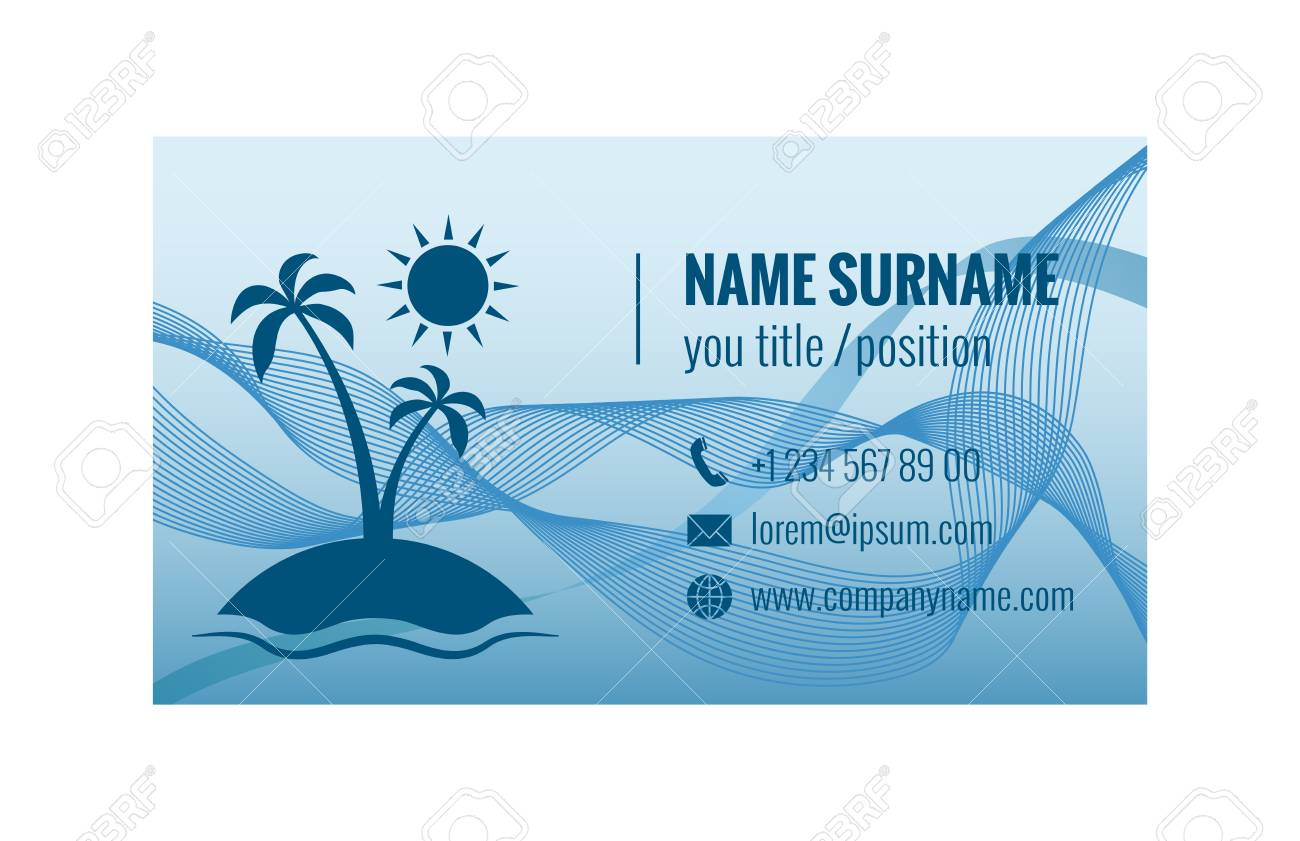 Business Card Template For Travel Agency. Corporate Identity ...