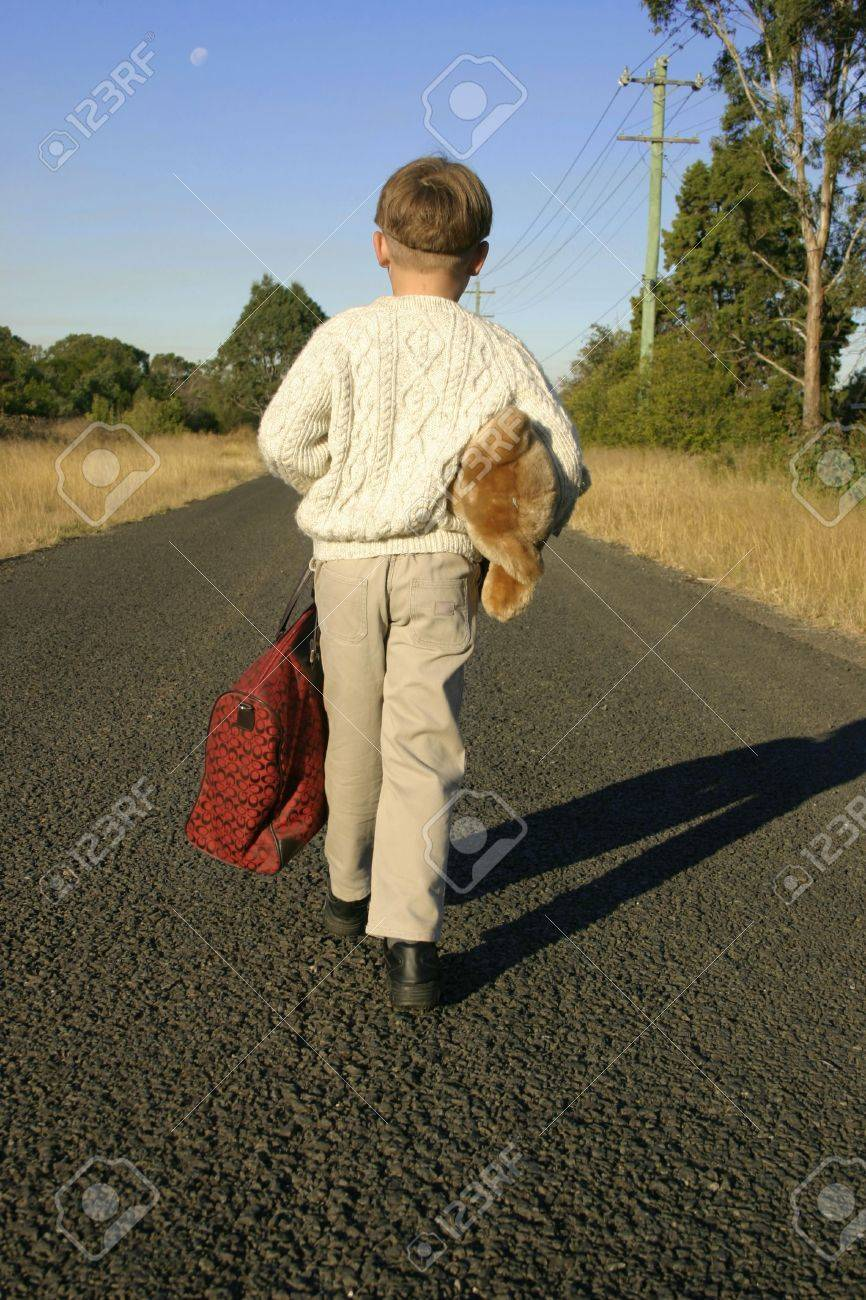 Boy Packed And Leaving Home Stock Photo, Picture And Royalty Free ...