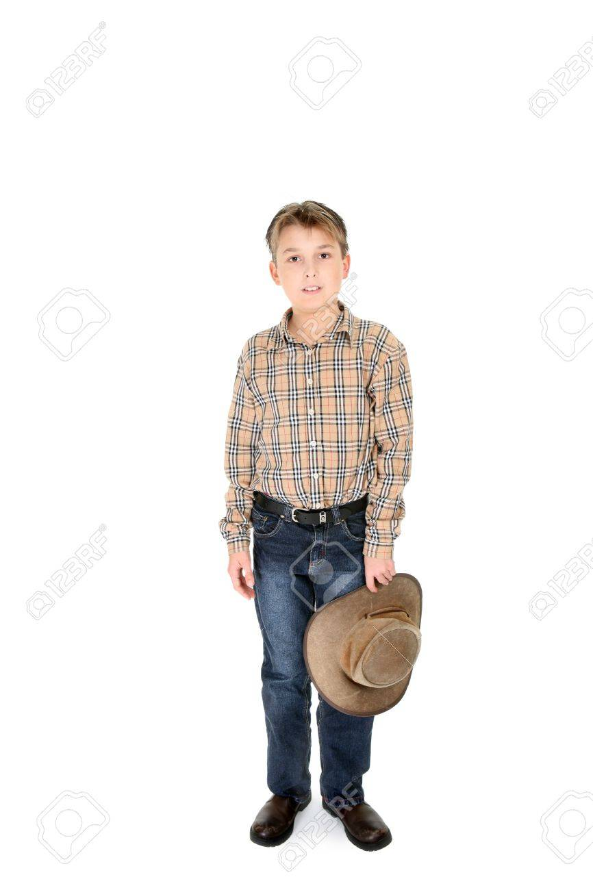 Leather Jeans For Boys Country Boy in Jeans And Check