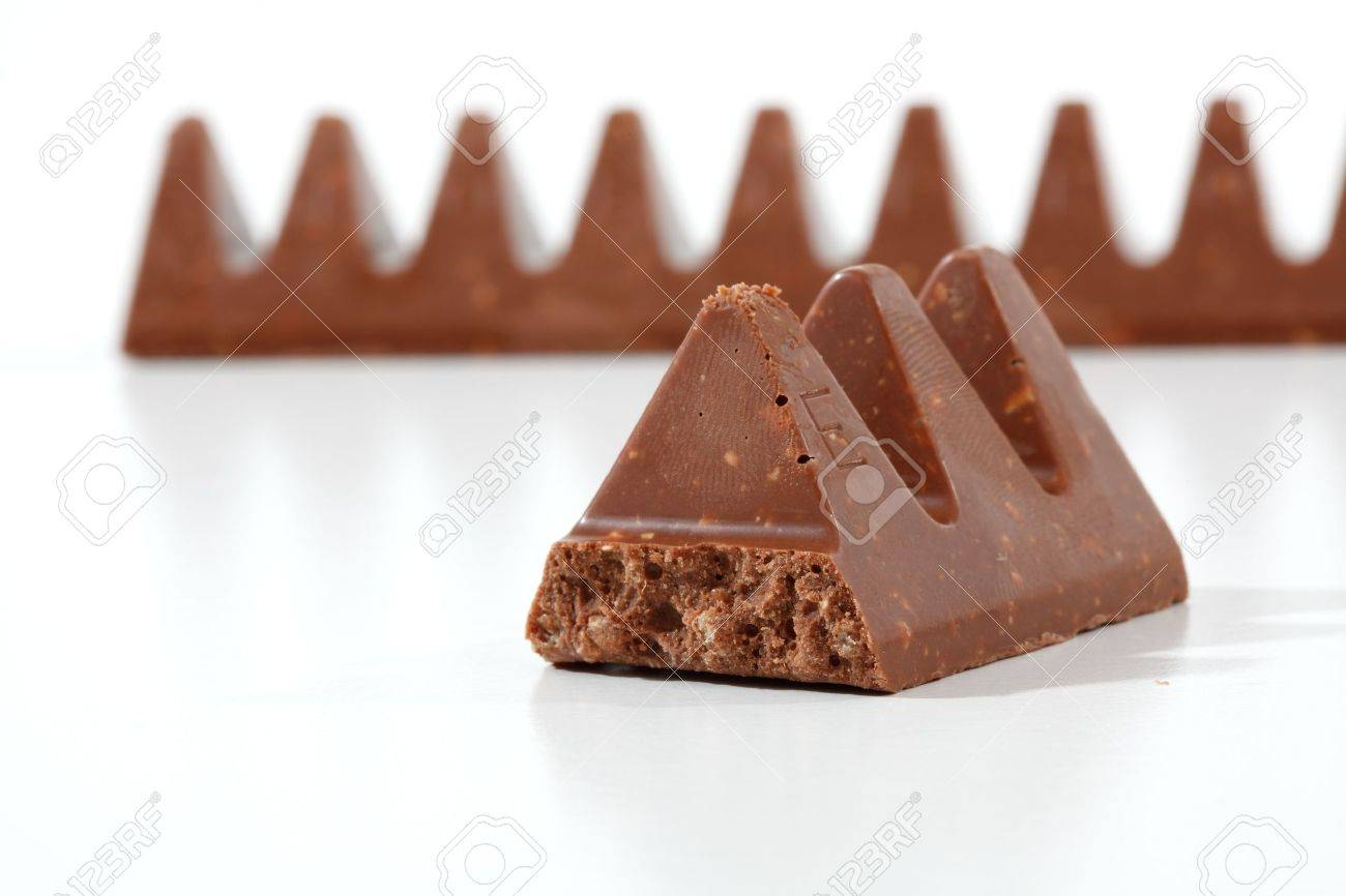Toblerone Chocolate Containing Honey And Almond Nougat And Crispy ...