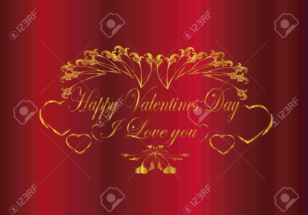 Te Quiero, Marco Del Día De San Valentín Feliz Ilustraciones ...