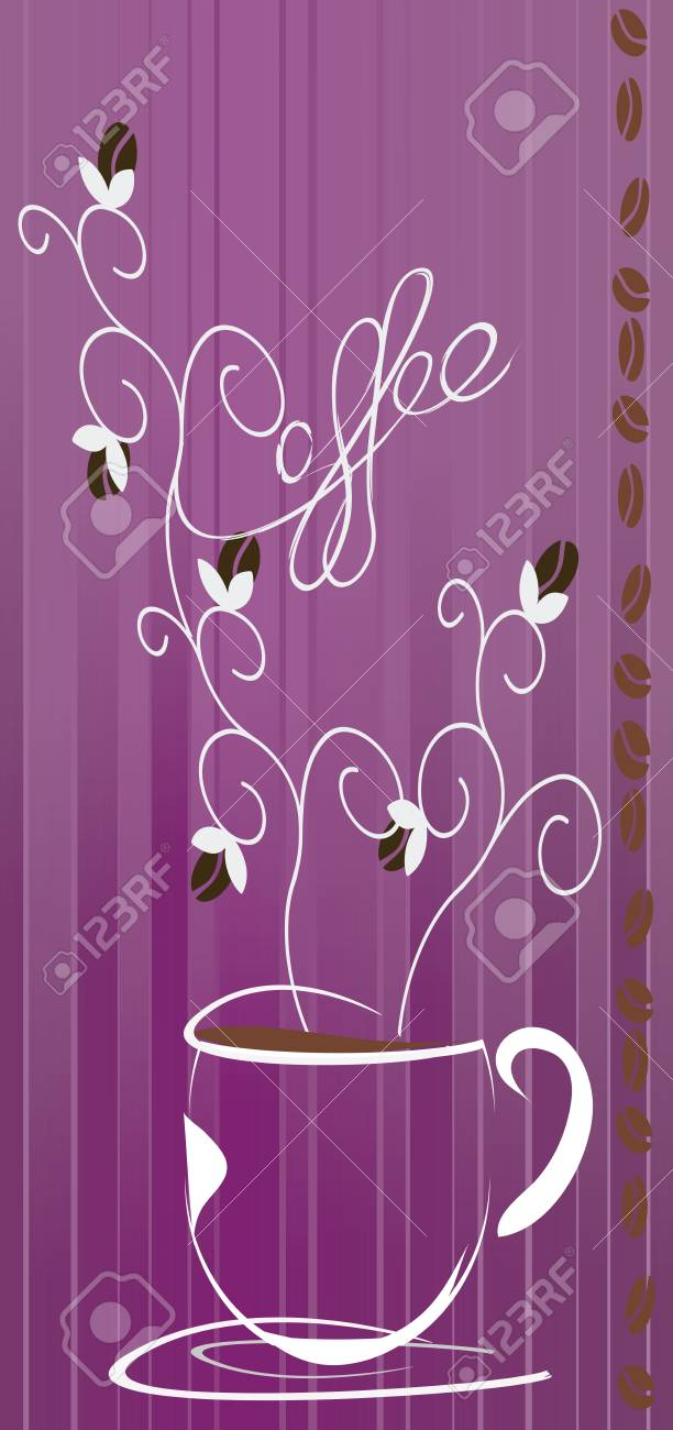 Cafe au Lait   Coffee Ad Stock Vector - 29292660