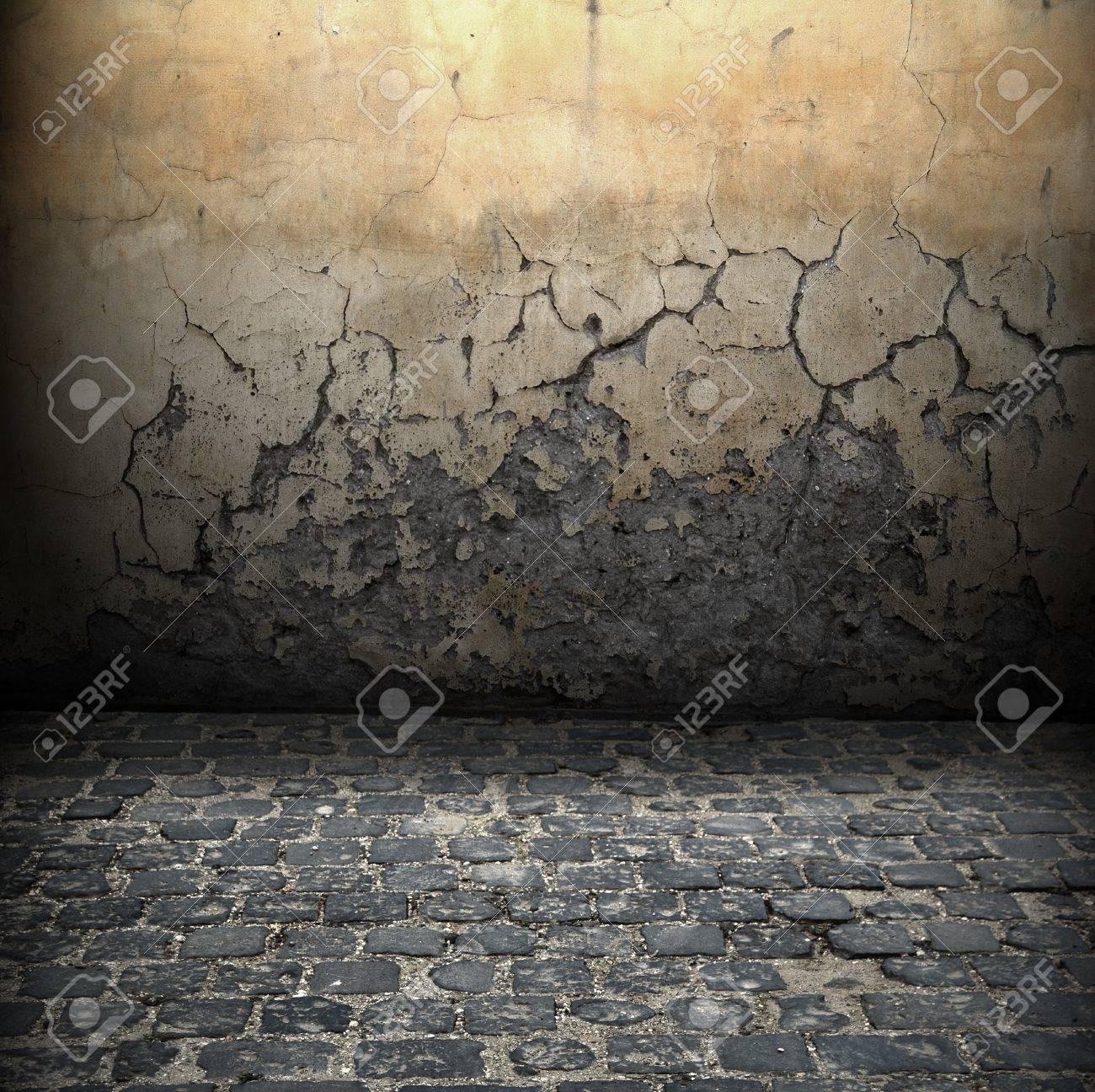 Dark Grunge Room Digital background for studio photographers - 14875190