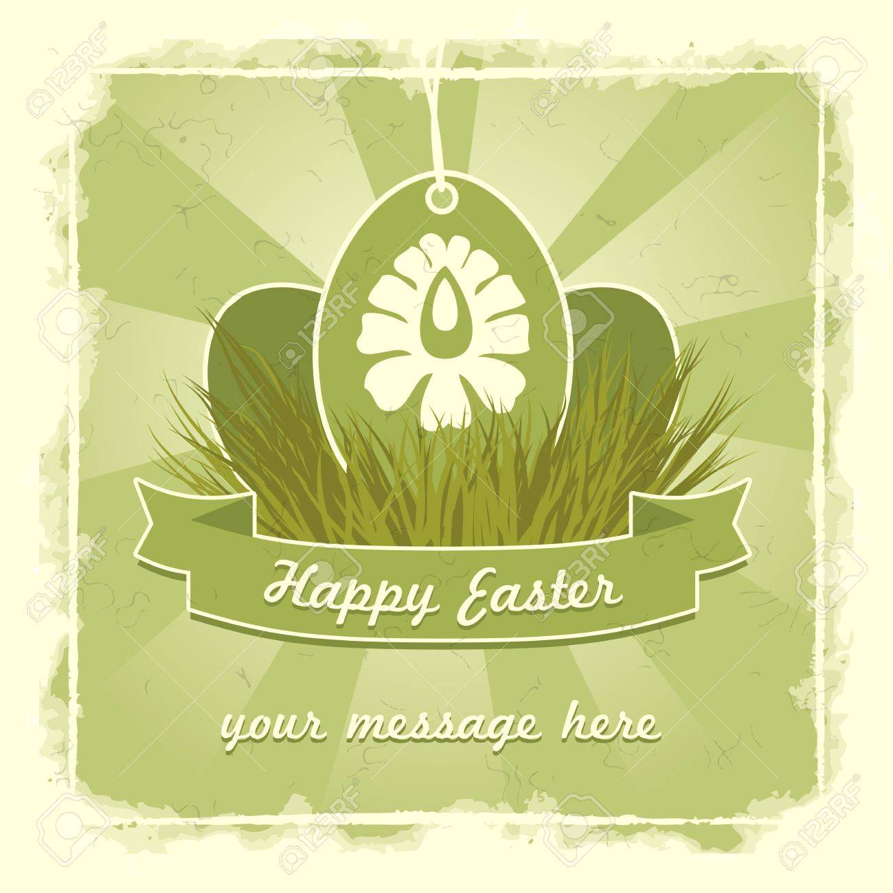 Old classic easter eggs card with traditional flower symbol. Stock Vector - 17414292