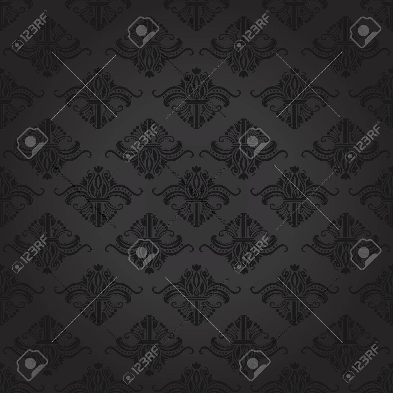 Seamless damask pattern for backgrounds and wallpapers. Stock Vector - 12034026