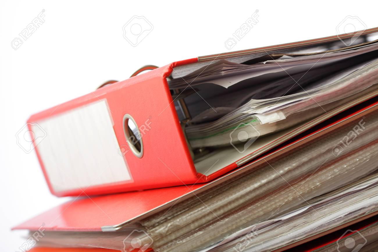 stack file Office folder on white background Stock Photo - 10537687
