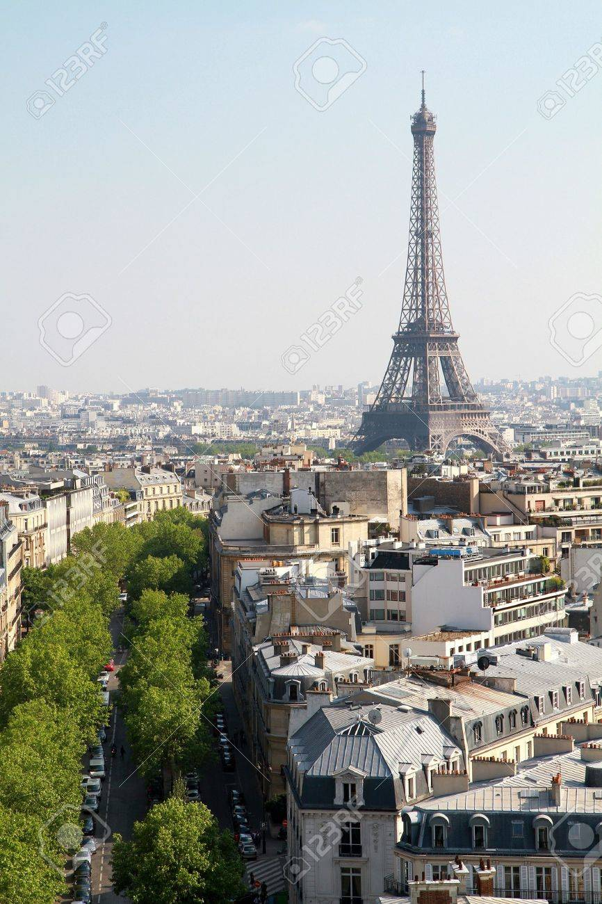 panoramic view of Tour Eiffel Stock Photo - 7233515