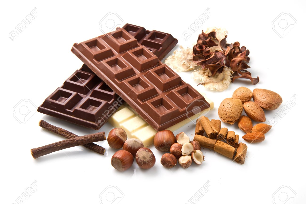 different kind of chocolate with ingredients Stock Photo - 10069339