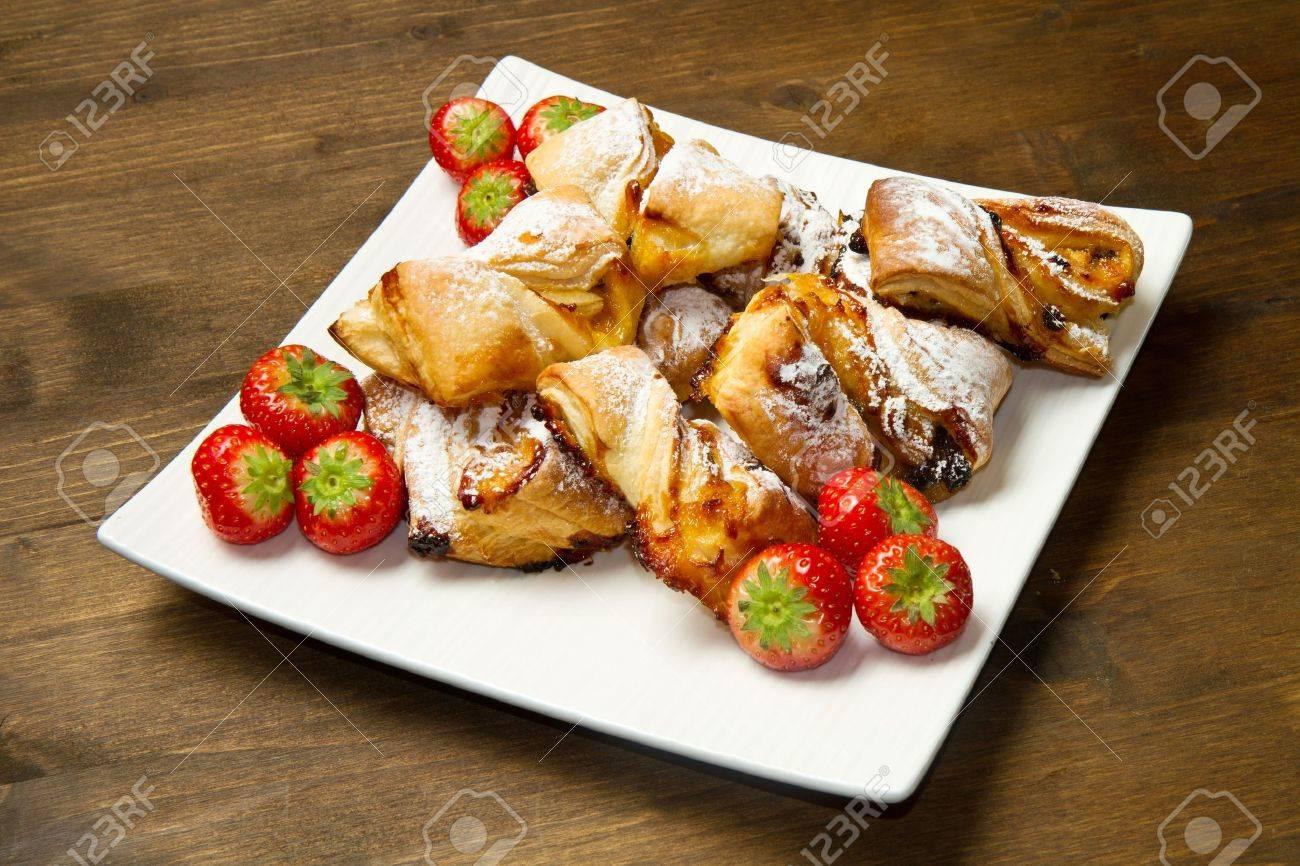 italian dessert with fruit  jam and raisins Stock Photo - 11591884