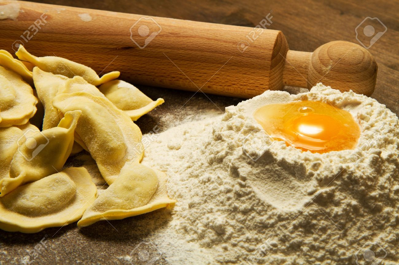 ravioli homemade pasta typical italian Stock Photo - 11805851