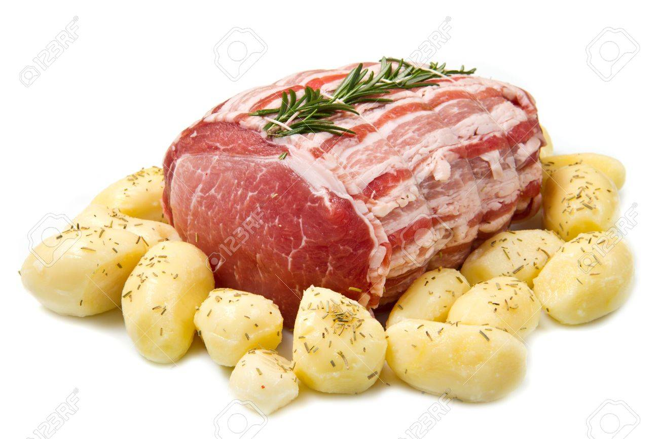 fresh roast of veal with rosemary and  potatoes Stock Photo - 12408154