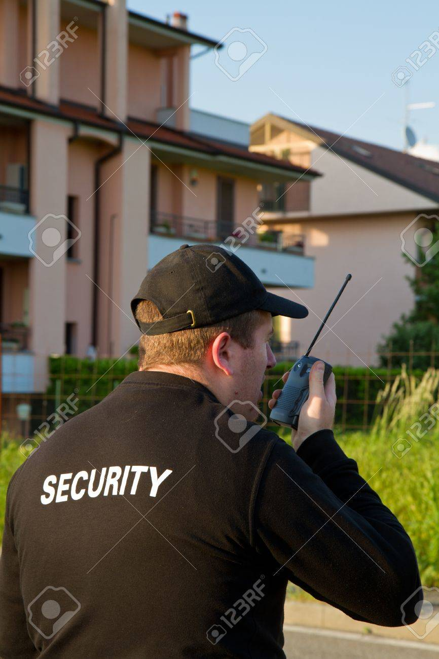 back of a security guard Stock Photo - 13646061