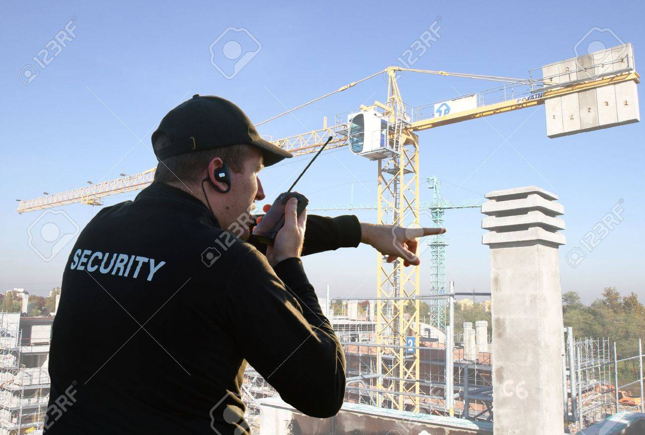 back of a security guard Stock Photo - 13646066