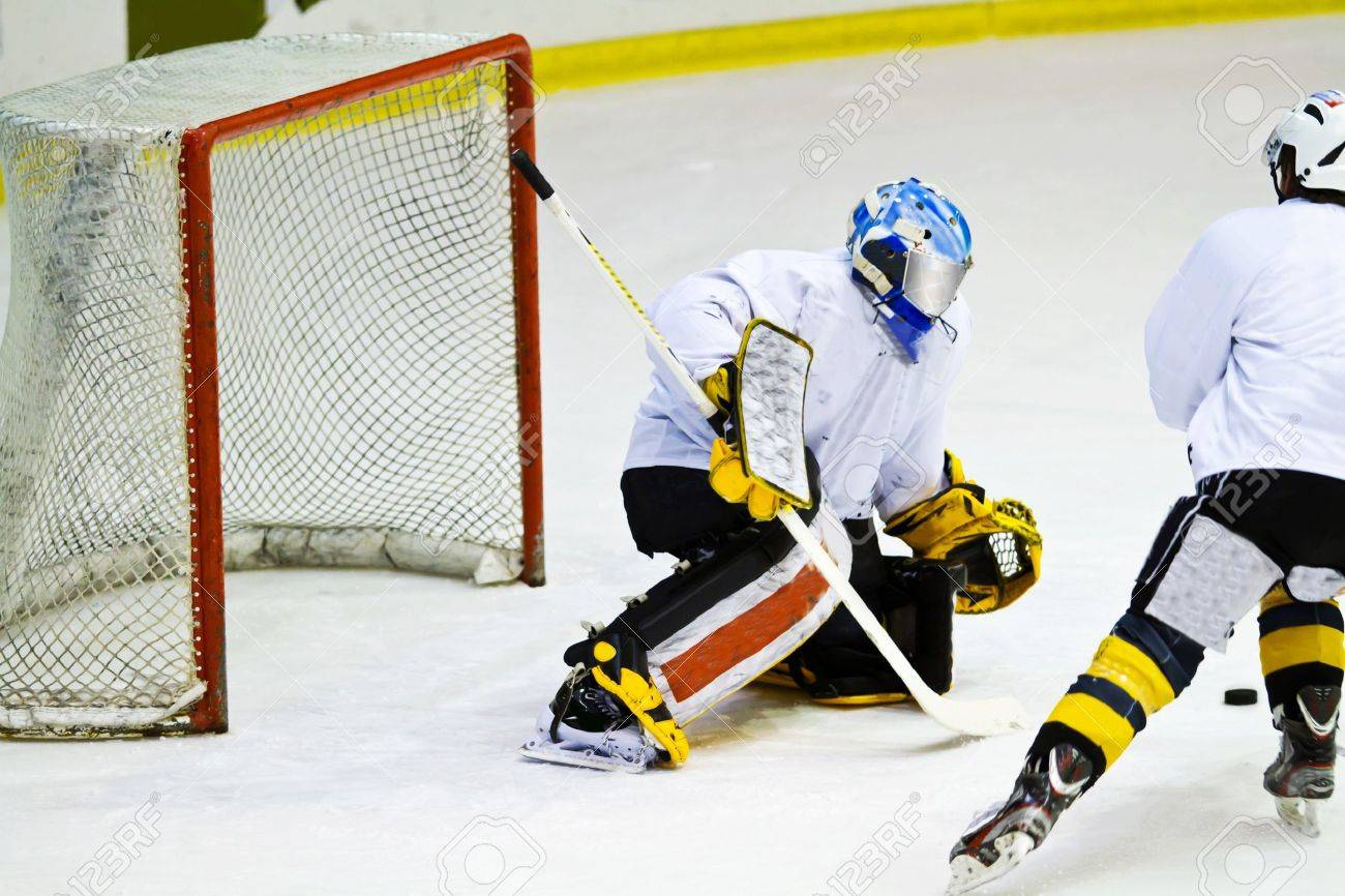 hockey player during a game Stock Photo - 18134357